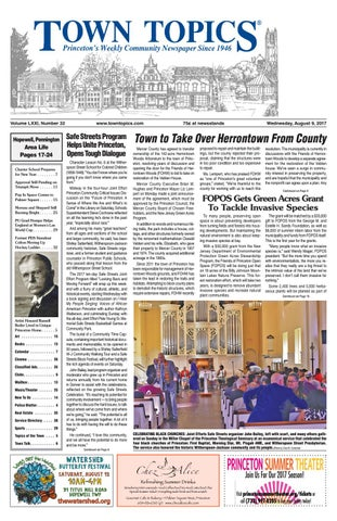 Town Topics Newspaper August 9 2017 By Witherspoon Media Group Issuu