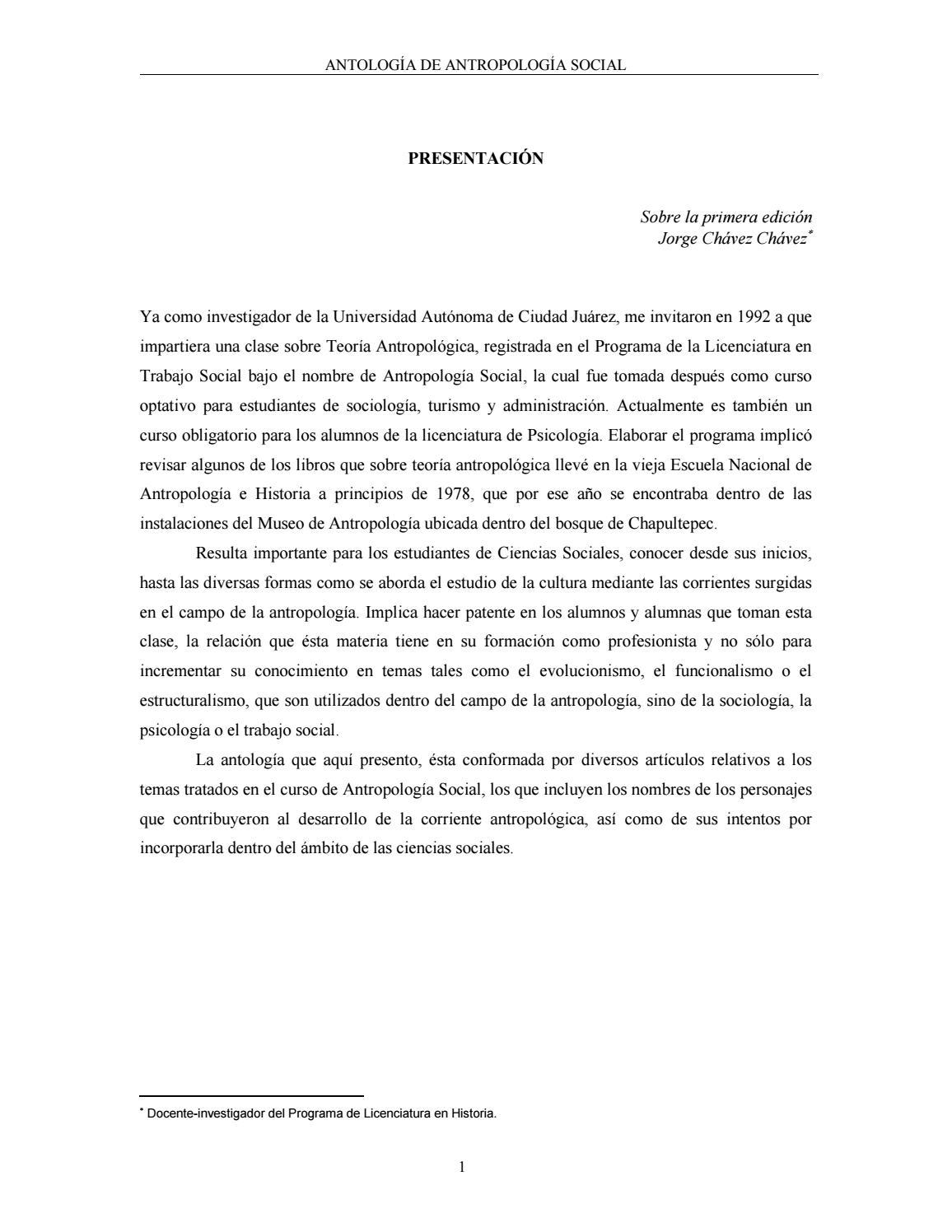 Antología antroopologia ok by Buezas Sergio Daniel - issuu