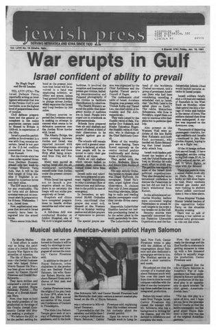 January 18 1991 By Jewish Press Issuu