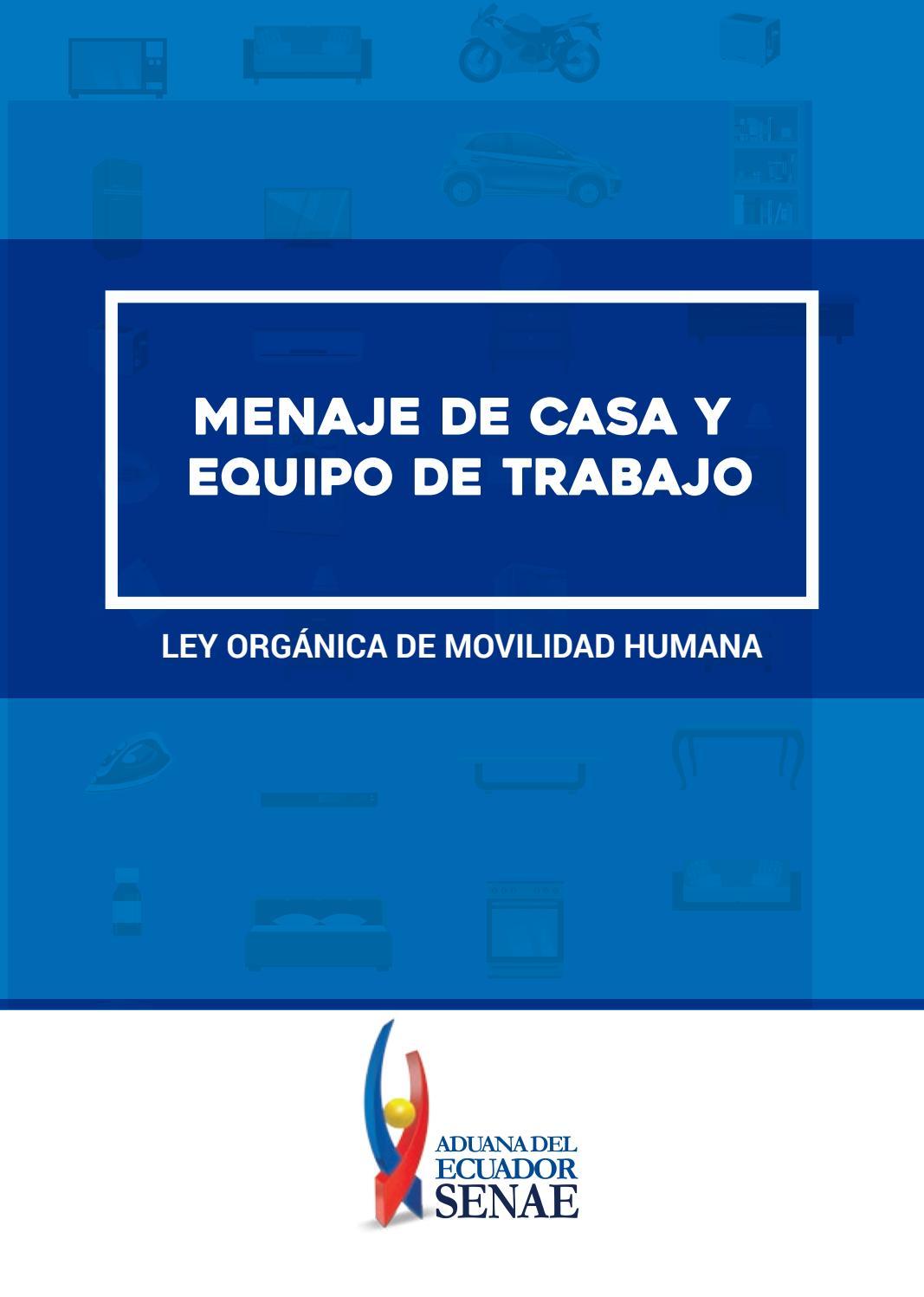 Brochure Menaje De Casa By Servicio Nacional De Aduana Del Ecuador  # Muebles Sumar Ecuador