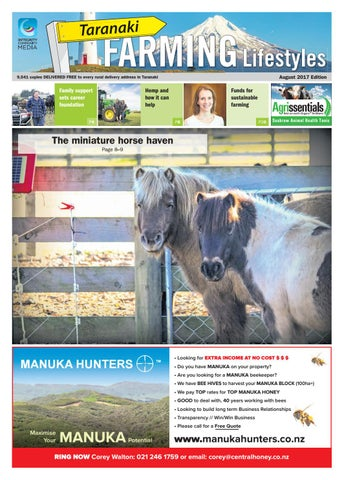 Taranaki Farming Lifestyles August 2017