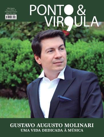 """Cover of """"Revista Ponto & Vírgula - Ano 5 - Edição 34 - Julho/Agosto 2017"""""""