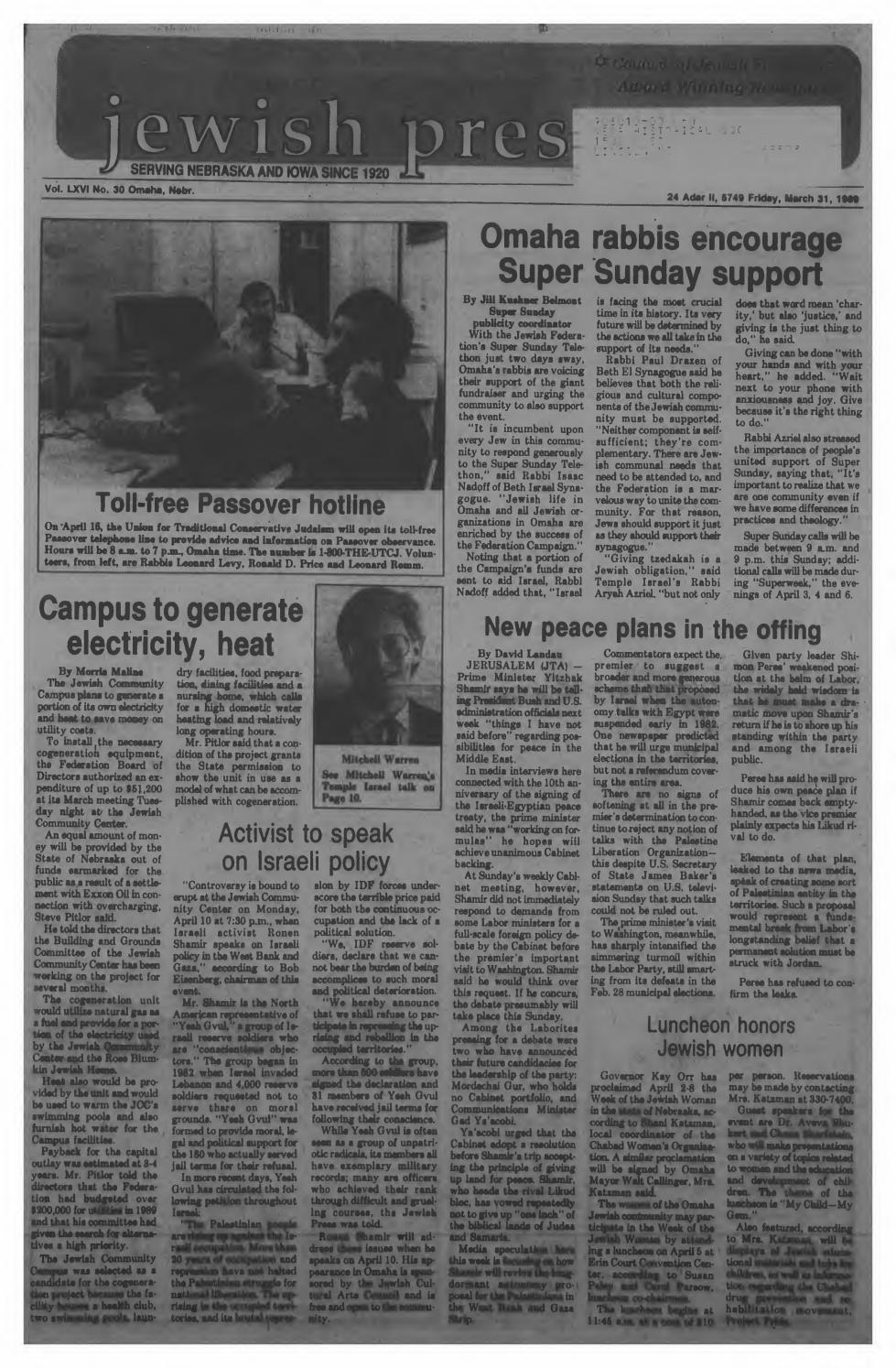 March 31 1989 by Jewish Press issuu