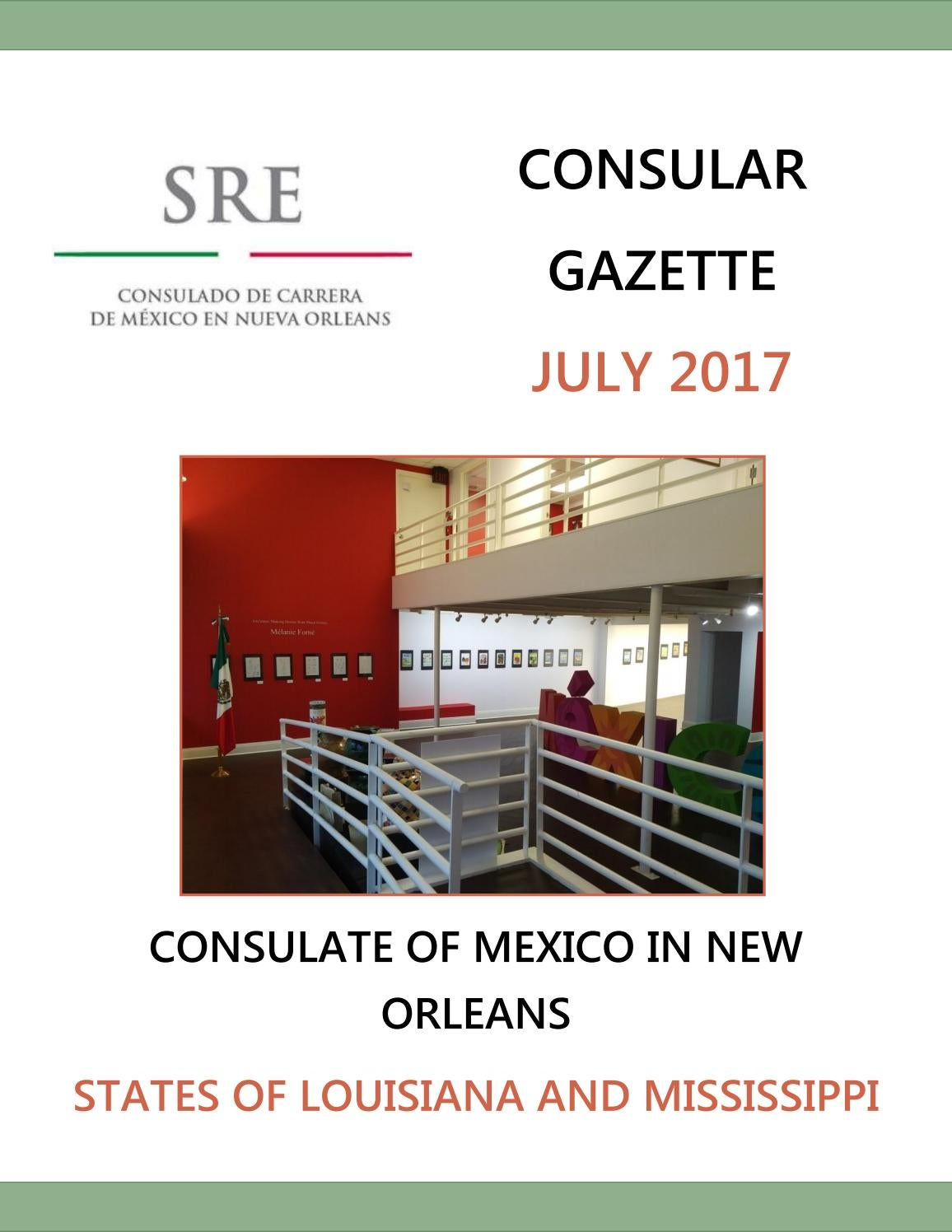 Consular Gazette July 2017 for the Consulate of Mexico in New ...