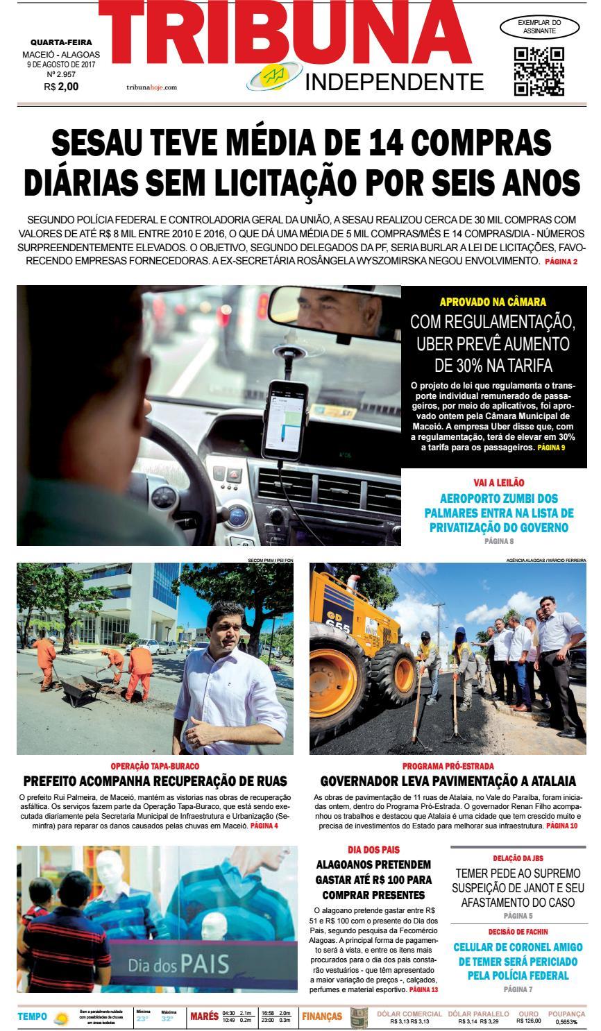 bcde670715a05 Edição número 2957 - 9 de agosto de 2017 by Tribuna Hoje - issuu