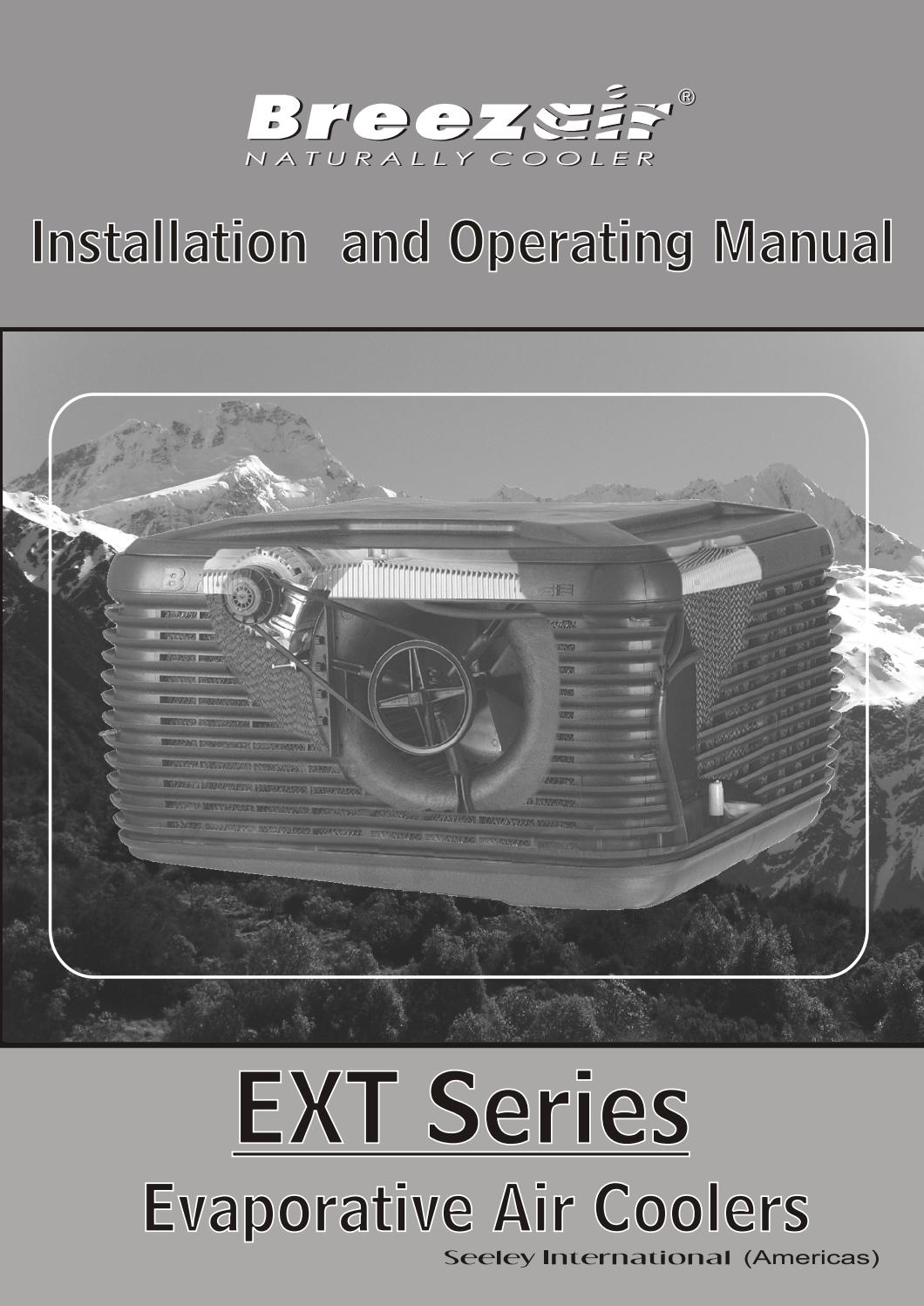 Breezair EXT Series Owner's Manual - English by Seeley