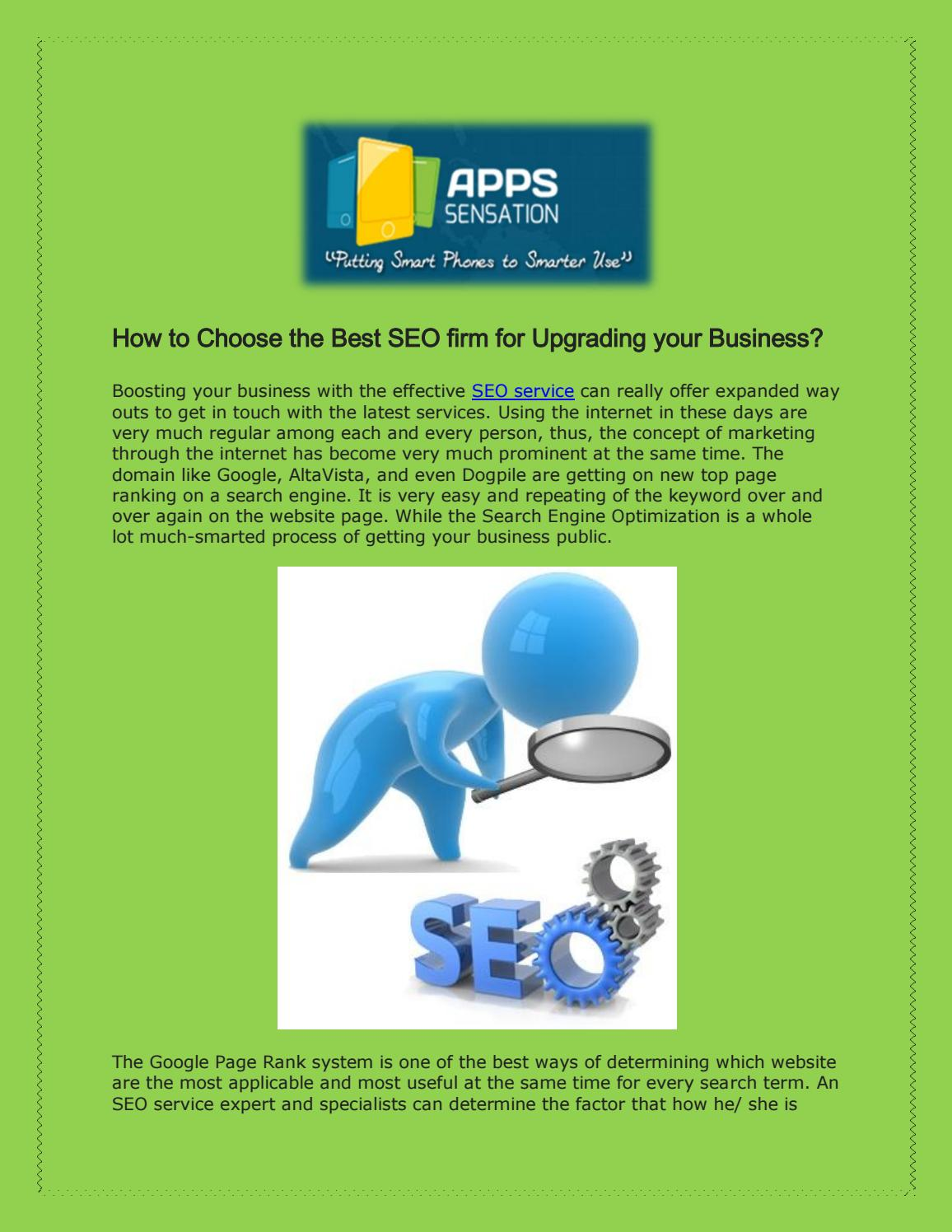 Choose The Best SEO Firm For Upgrading Your Business