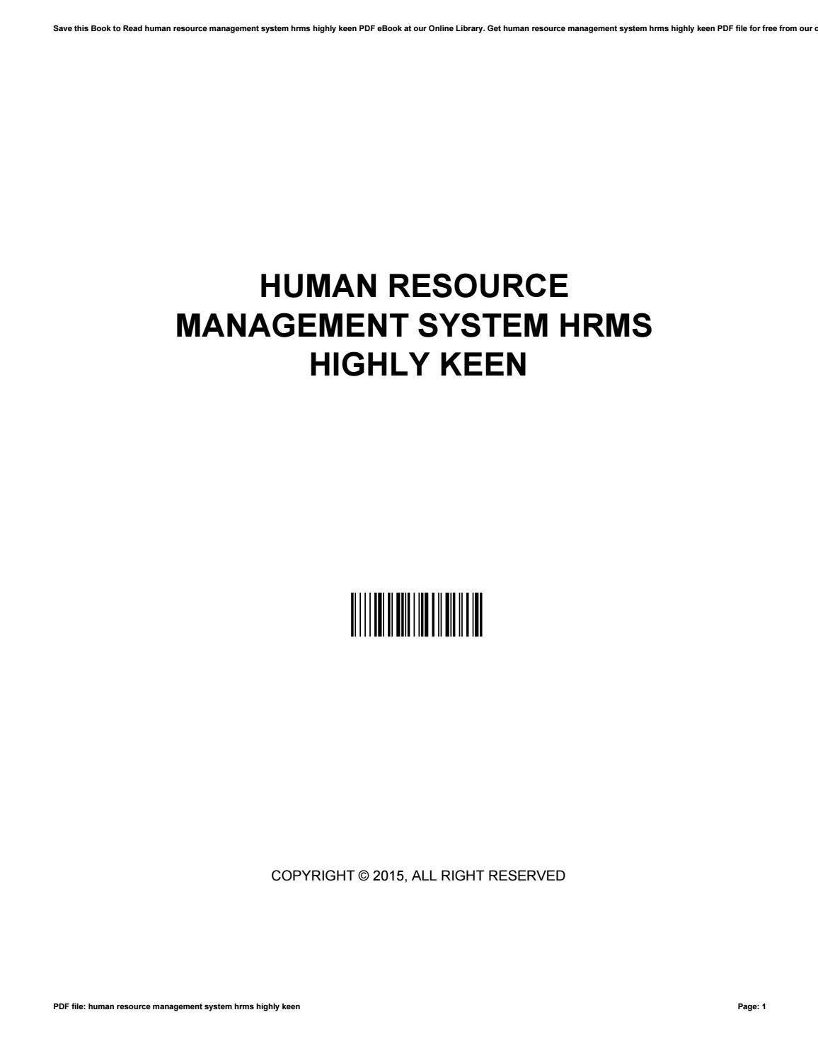 Human resource management system hrms highly keen by