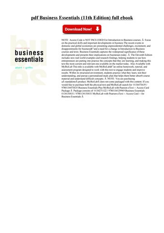 Business Essentials 11th By Rarkujegni Issuu