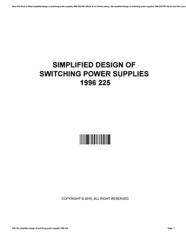 Switching Power Supply Design Ebook