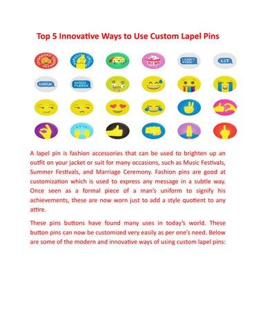 Top 5 innovative ways to use custom lapel pins by Ziggit