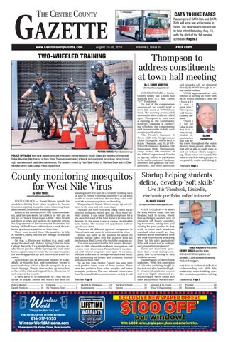 Centre County Gazette August 10 2017 By Indiana Printing