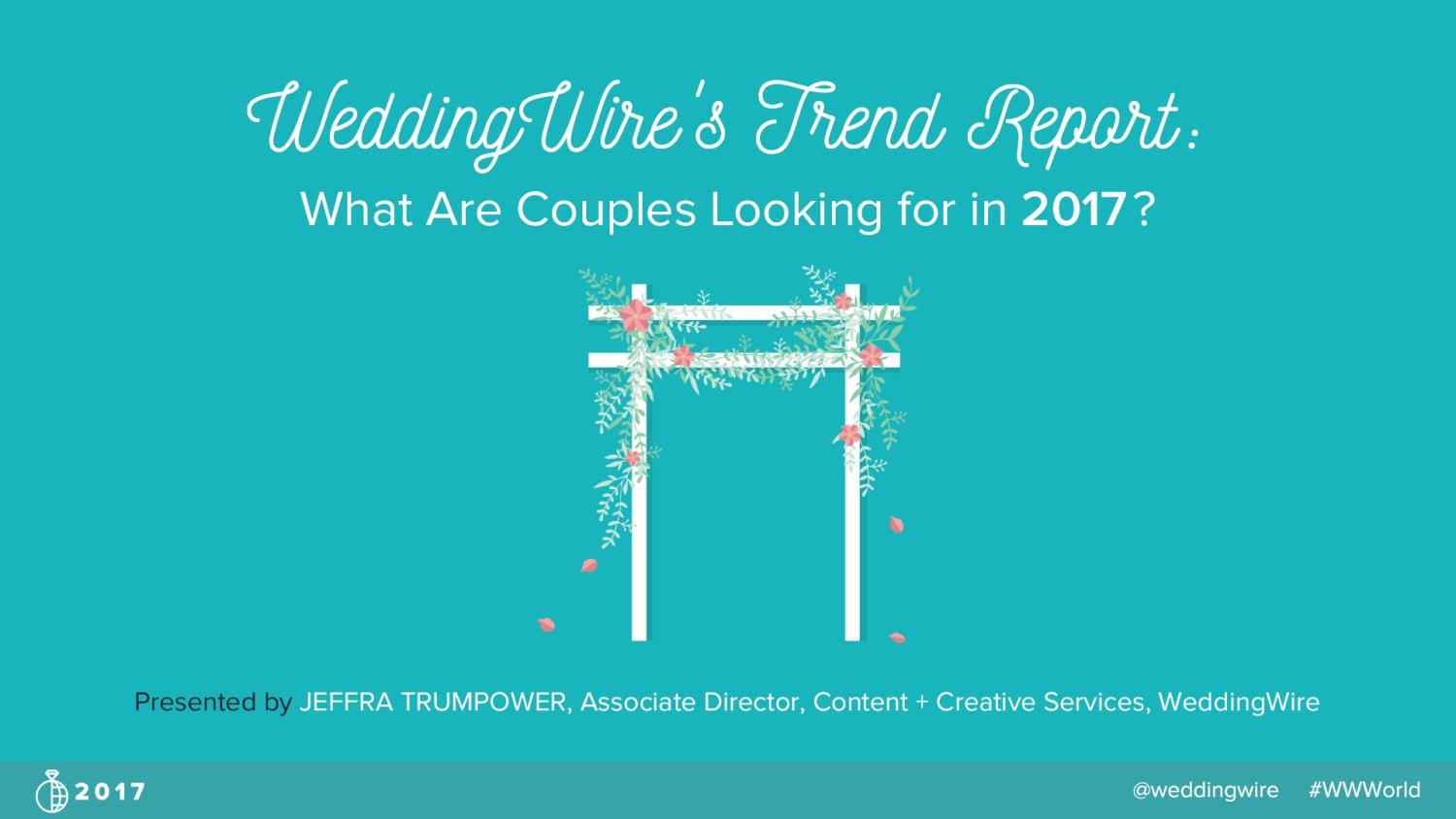 Trend Report: What are Couples Looking for in 2017? - Jeffra ...
