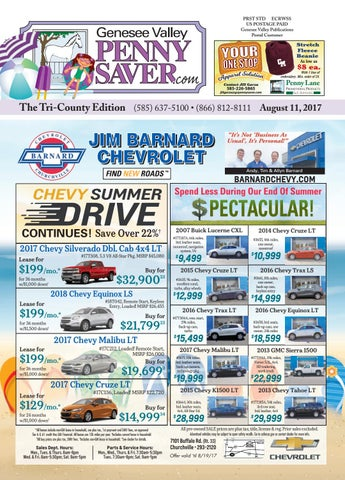 The Genesee Valley Penny Saver Tri-County Edition 8/11/17 by Genesee ...