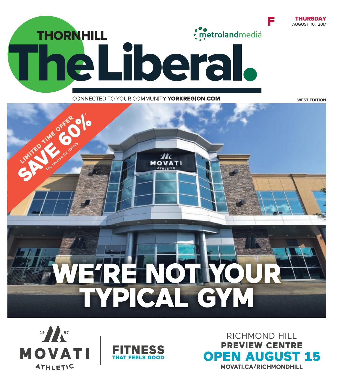 The Thornhill Liberal West, August 10, 2017 by Thornhill Liberal - issuu