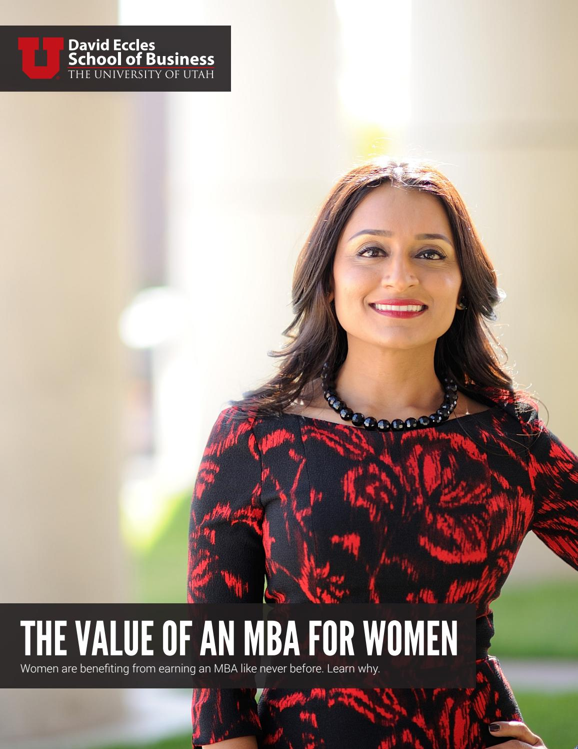 The Value of an MBA for Women by University of Utah's MBA