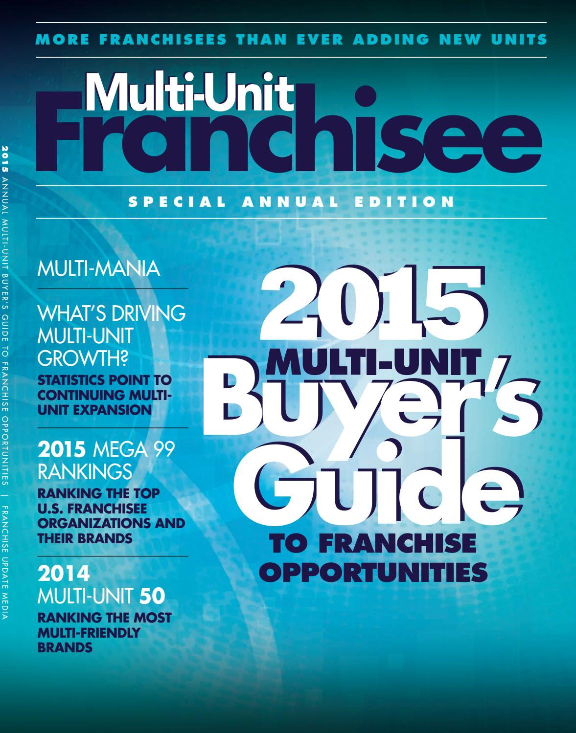 Multi-Unit Franchisee Buyer\'s Guide 2015 by Franchise Update Media ...