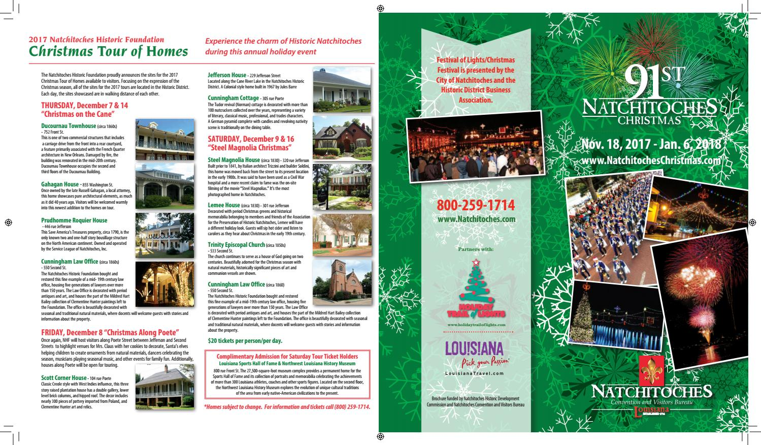 Natchitoches Christmas Brochure 2017 by Natchitoches Tourism - issuu