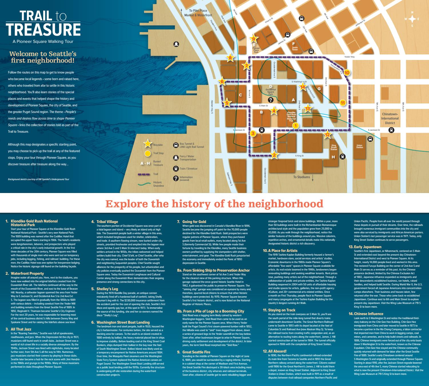 Trail To Treasure Map By Alliance For Pioneer Square Issuu