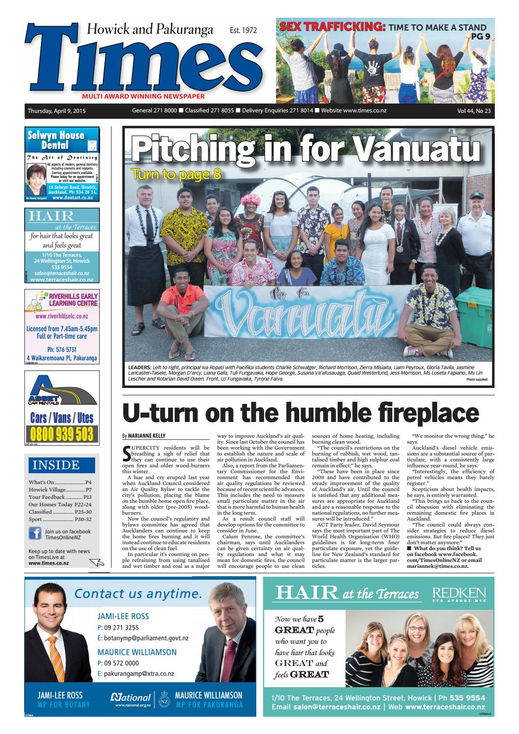 Howick And Pakuranga Times April 9 2015 By Times Media Issuu