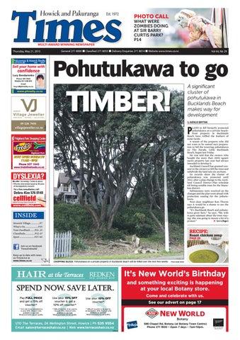 Howick And Pakuranga Times May 21 2015pdf By Times Media Issuu