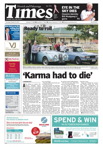34301d37d Howick and pakuranga times oct 29 2015 by Times Media - issuu