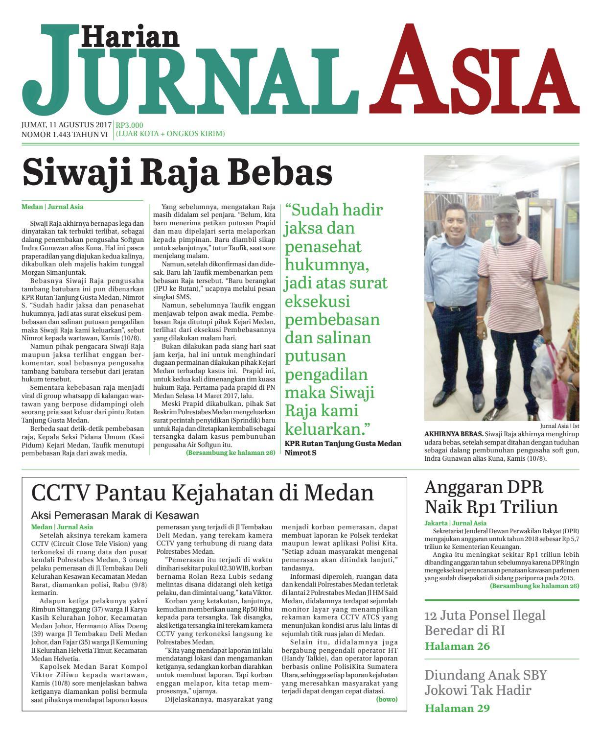 Harian Jurnal Asia Edisi Jumat 11 Agustus 2017 By Produk Ukm Bumn Tas Phiton Kembang Orchid Medan Issuu