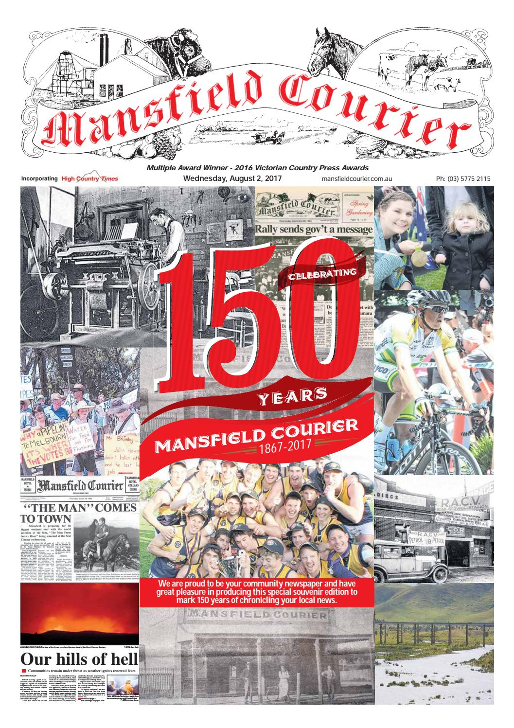 Mansfield Courier 150 Years by provincial press group - issuu