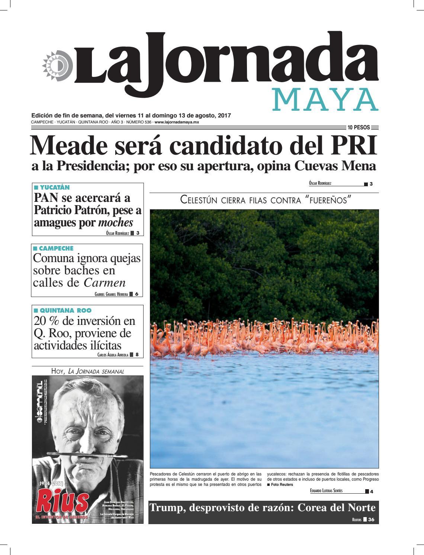 La Jornada Maya · viernes 11 de agosto, 2017 by La Jornada Maya ...