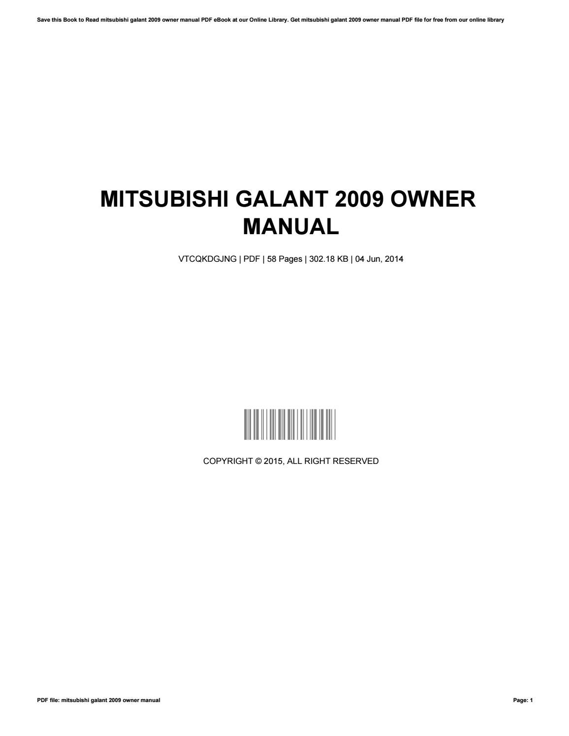 mitsubishi galant  owner manual  madonnaweaver