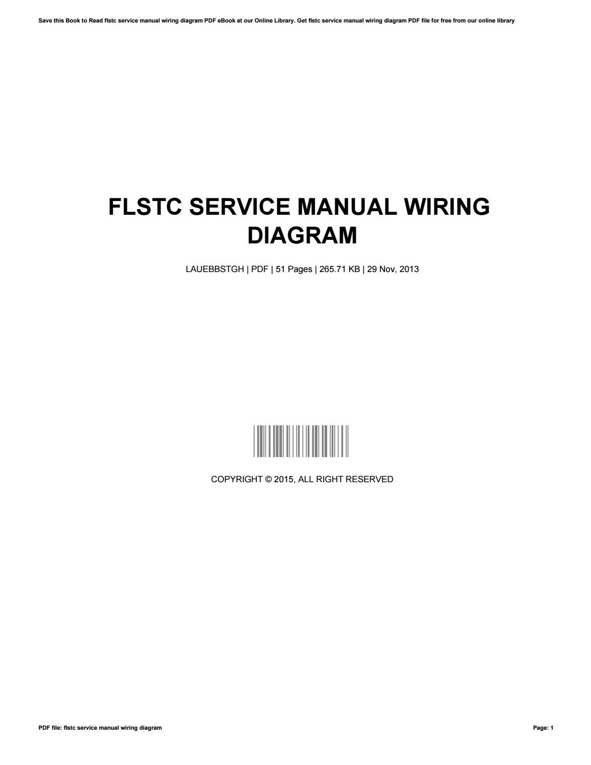 Flstc Service Manual Wiring Diagram By Mariepruett2237