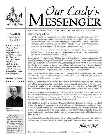 Olmv10n2 by Our Lady's Messenger - issuu