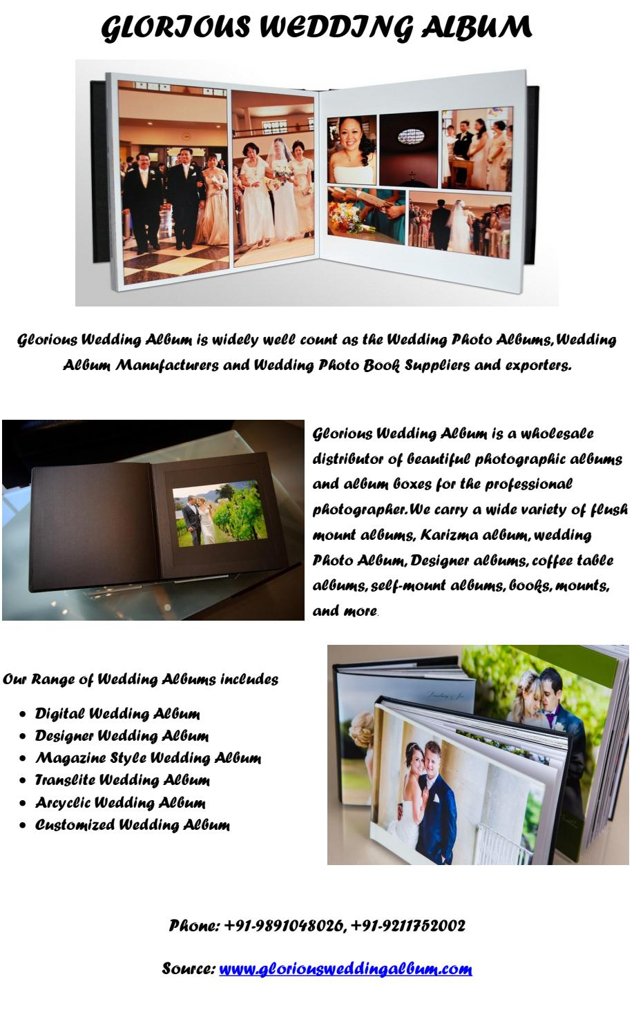 Wedding Albums By Glorious Wedding Album By Gloriousweddingalbum Issuu
