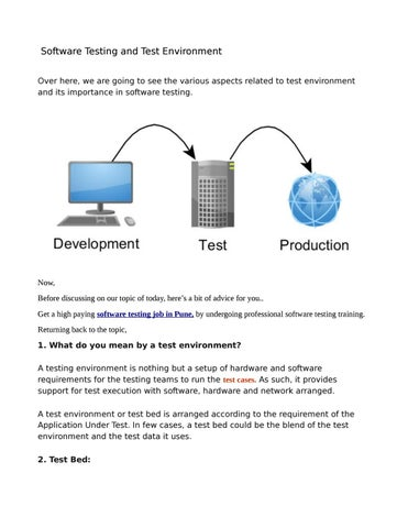 Software Testing And Test Environment By Aradhana Issuu - Software testing requirements