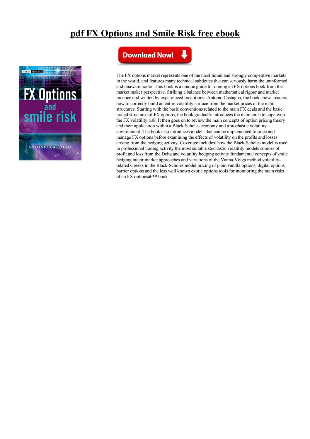 Fx options and smile risk castagna pdf