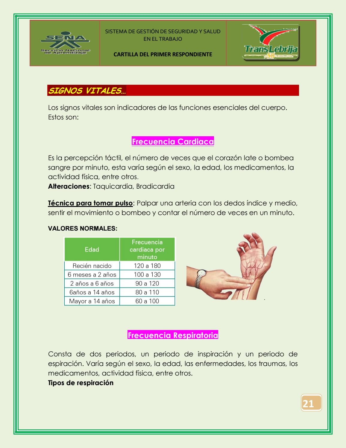 Indicadores Banos.Manual Primer Respondiente By Camila Issuu