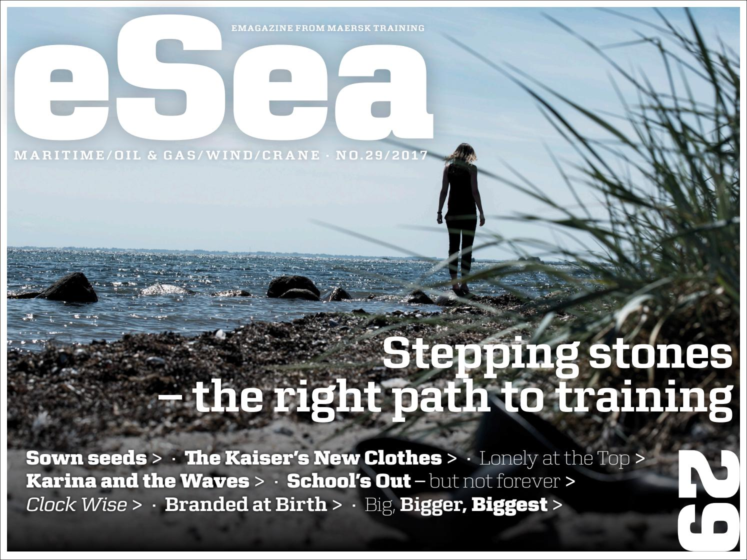 eSea 29 Stepping stones – the right path to training by Maersk