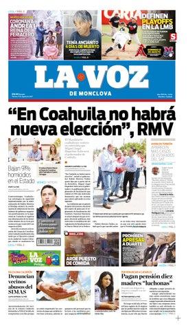 Periodico digital 11 agosto 2017 by LA VOZ Monclova - issuu 707b9b6454a