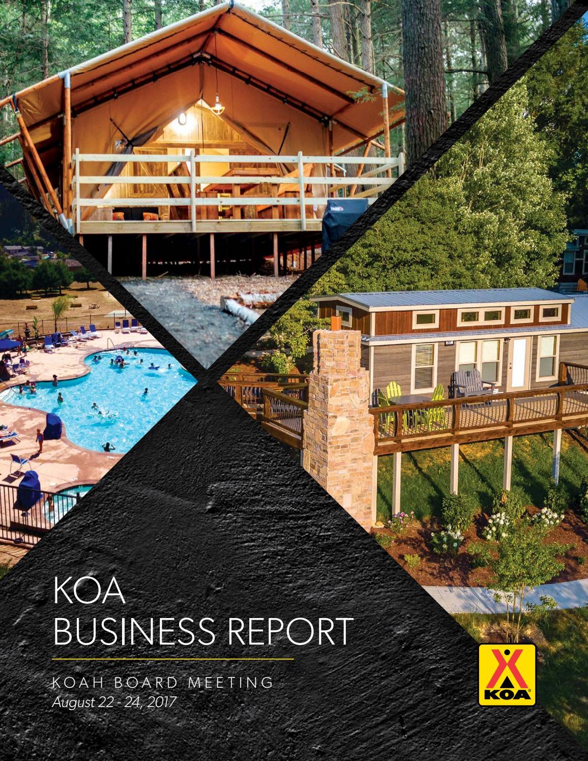 KOA Business Report August 2017