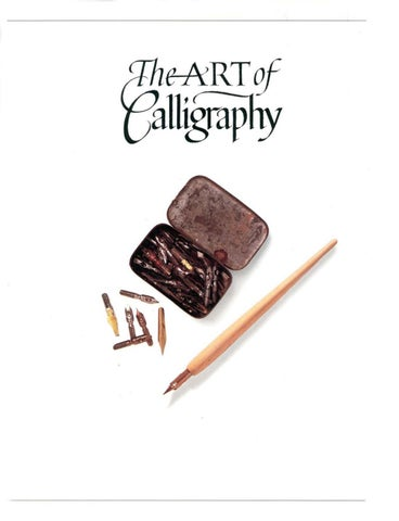 The art of calligraphy by david harris by Rafael Cavalcante - issuu