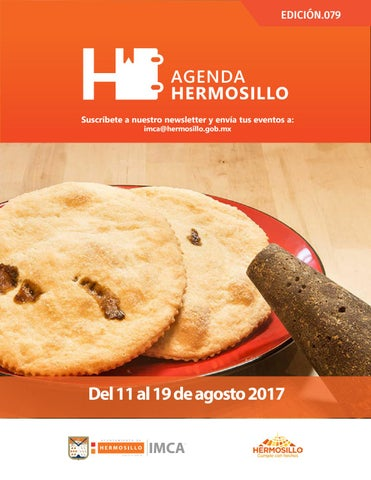 "Cover of ""Agenda Hermosillo 11 agosto 2017"""
