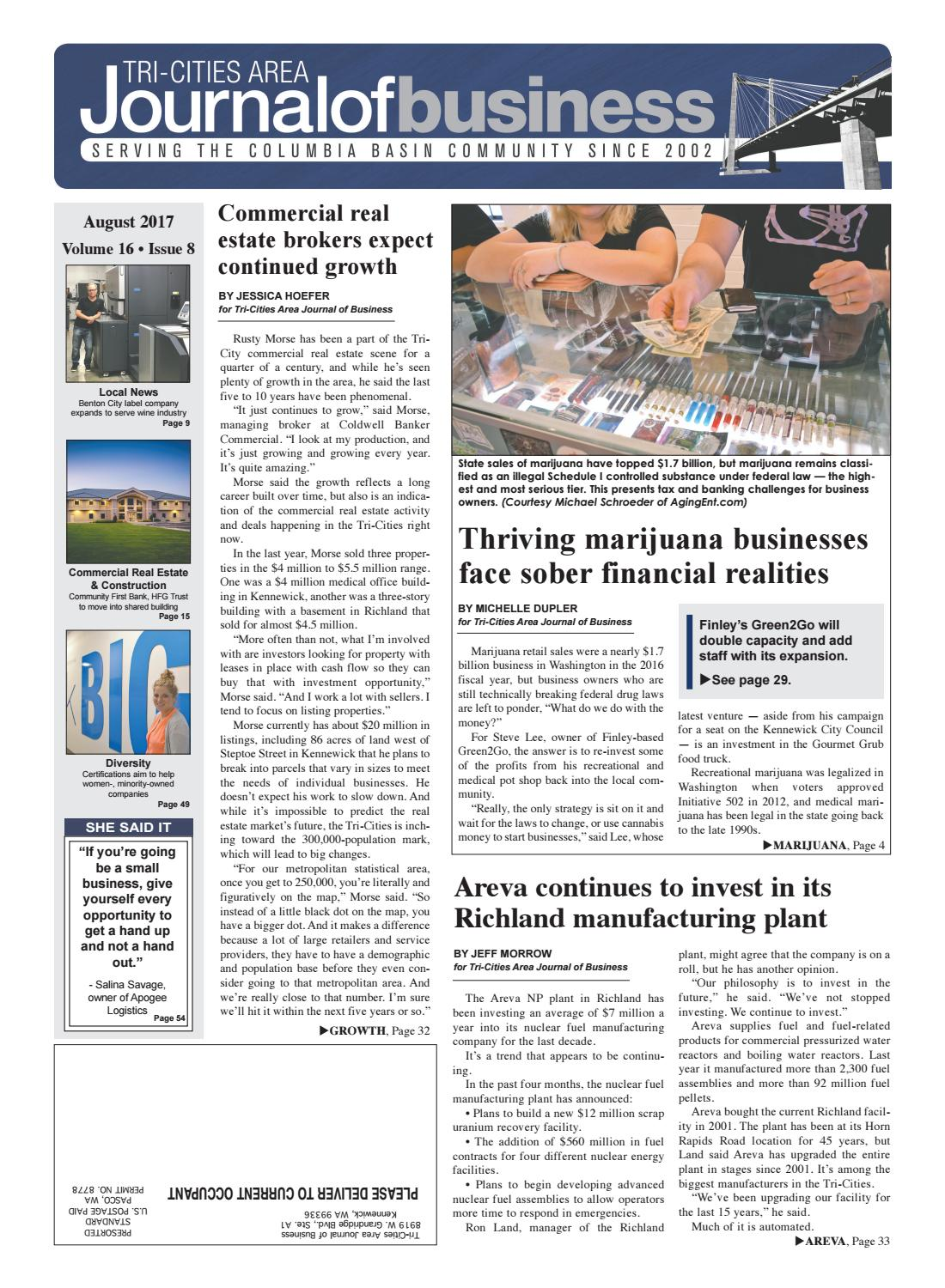 Tri-Cities Area Journal of Business -- August 2017 by Tri