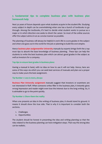 5 Fundamental Tips To Complete Business Plan With Business Plan Homework Help By Assignments Web Educational Services Pvt Ltd Issuu