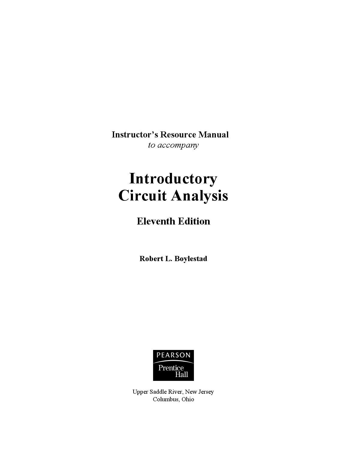 Introductory circuit analysis(solution 11th edition) by mamado bonnah2017 -  issuu