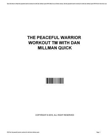 Peaceful warrior workout