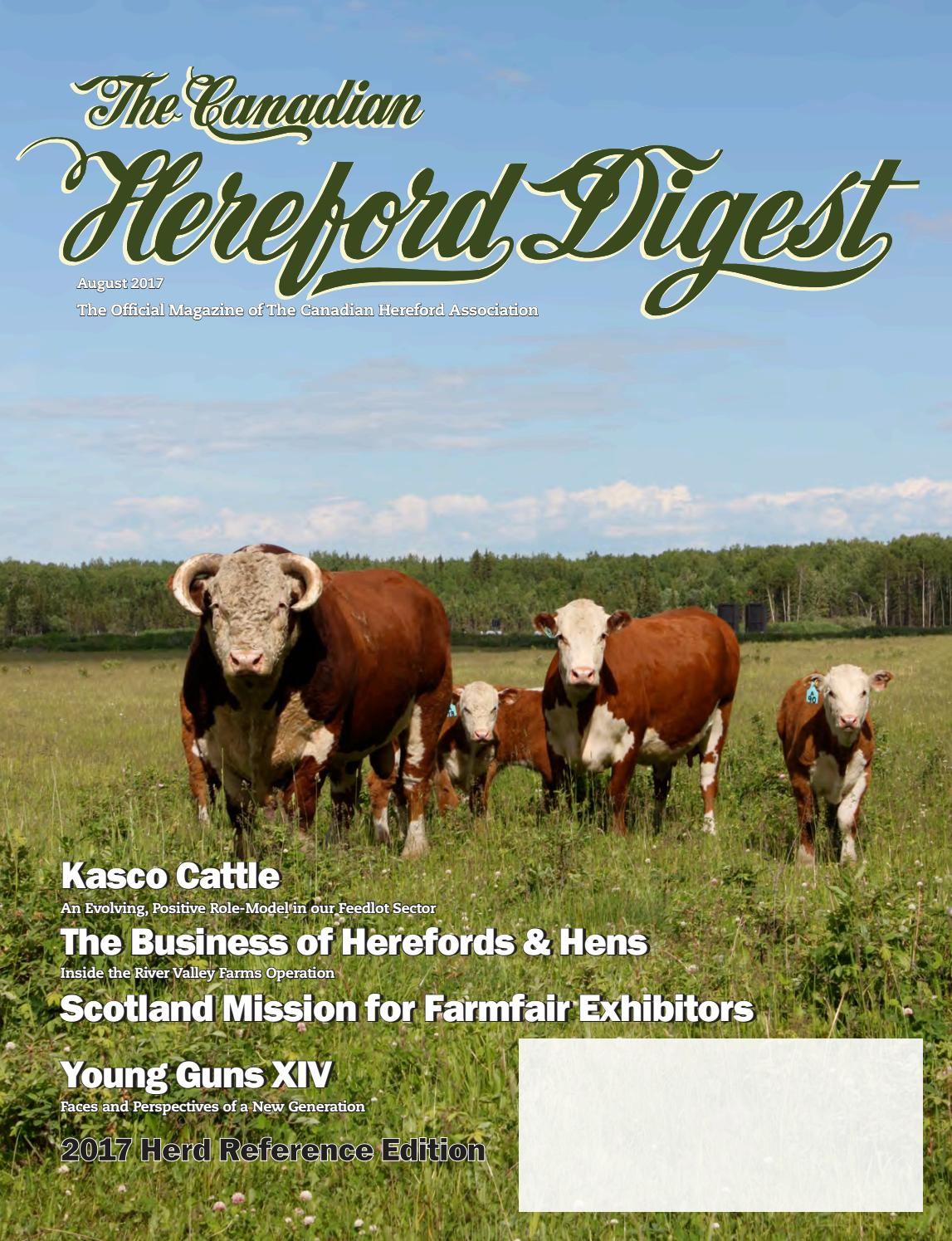 new product d43d4 e8cba August 2017 Canadian Hereford Digest by Canadian Hereford Association -  issuu