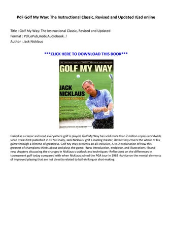 Golf My Way Pdf