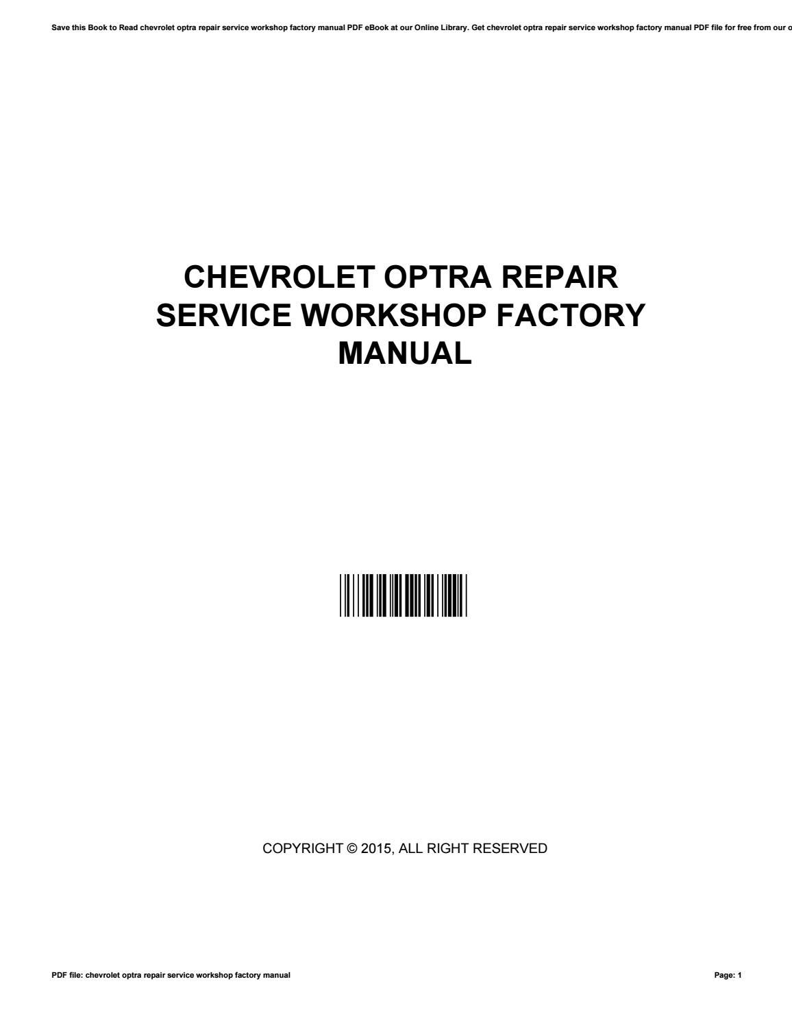 Chevrolet optra repair service workshop factory manual by MeganMorin2246 -  issuu