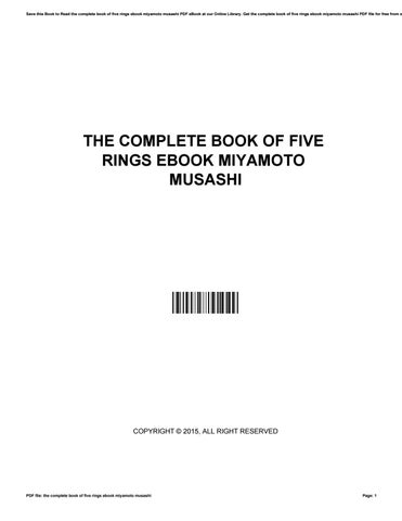 The complete book of five rings ebook miyamoto musashi by save this book to read the complete book of five rings ebook miyamoto musashi pdf ebook at our online library get the complete book of five rings ebook fandeluxe Gallery