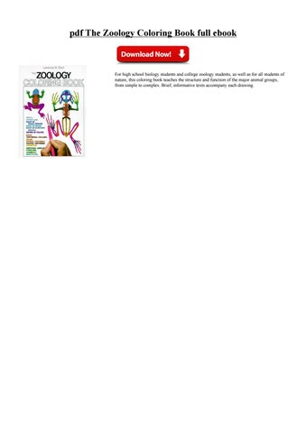 Pdf The Zoology Coloring Book Full Ebook PDF Free Download